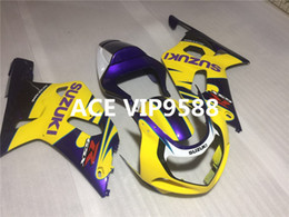 Wholesale Gsxr K1 Fairing - 3 gifts Motorcycle Fairing kit for SUZUKI GSXR600 750 K1 01 02 03 GSXR 600 GSXR750 2001 2002 2003 Motorcycle Fairings set ABS Yellow ks1
