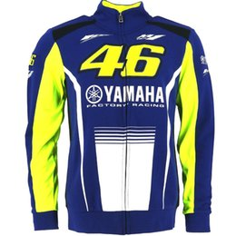 Wholesale Blue Moto Jacket - 2017 Valentino Rossi VR46 M1 For Yamaha Factory Racing Team Moto GP Adult Hoodie Sports Sweatshirt Jackets Blue