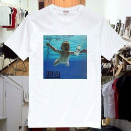 Nirvana Nevermind Rock Music Band Tee T Shirt Unisex Mens Womens New Mens Top Cool O Neck T-Shirt Top Tee da band di musica t-shirt fornitori