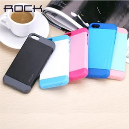 Wholesale Iphone 5c Shell For Sale - ROCK Original Shield series phone case for iPhone 5s 5c SE Soft Silicon phone cover for iPhone 5 anti knock 5s phone shell Sale