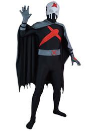 Wholesale Teen Spandex - Full set of X Teen Titans Custom Red Superhero Costume Halloween Party Cosplay Zentai Suit