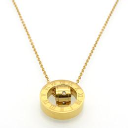 Wholesale Roman Gold Bracelet - Design Luxury Brand roman Love Necklace for Women Stainless Steel Accessories Zircon Heart Love Bangle & Bracelets For Women Jewelry