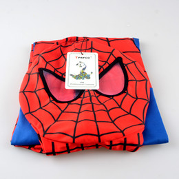Wholesale Spiderman Fancy Dress Costume - ostumes Accessories Cosplay Costumes TPRPCO Spider Man Spiderman Mascot Costume Fancy Dress Adult And Children Halloween Costume Red with...