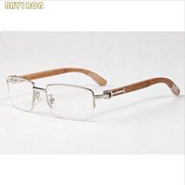 2019 corno originale con scatola originale retrò da uomo in legno occhiali da sole per donna di design corno bufalo occhiali in legno di bambù occhiali lenti trasparenti lunettes de soleil corno originale economici