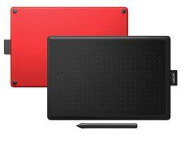 2019 tabletas digitales para dibujo Nuevo One by Wacom CTL-472 / CTL-672 Tableta de dibujo para gráficos digitales, pequeña / mediana, nivel de presión 2048 (color negro-rojo) tabletas digitales para dibujo baratos
