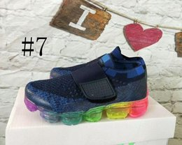Wholesale Kids Runners - new baby children boy girl vapormax runner Casual Shoes boys girls vapormaxes trainers knit sneaker Air cushion kids shoes