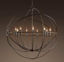 Lâmpadas orb on-line-Focaults Orb Lâmpada Pingente Hardware de Restauração Do Vintage Pendurado Luz de Suspensão Da Lâmpada Para Sala de estar Sala de Jantar Decoração de Casa