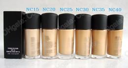 Wholesale Firming Creams - Makeup Studio Fix fluid Foundation NC Colors Found De Teint With Foundation Pump 30Ml 1Pcs