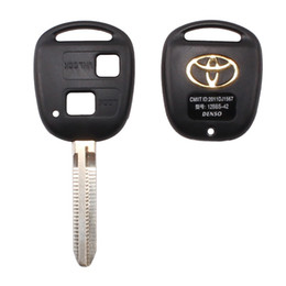 Wholesale Toyota Cruiser - 2 BUTTON REMOTE KEY FOB CASE FOR TOYOTA CAMRY RAV4 PRADO COROLLA TARAGO AVENSIS AVALON EHCO LAND CRUISER CAR KEY SHELL COVER