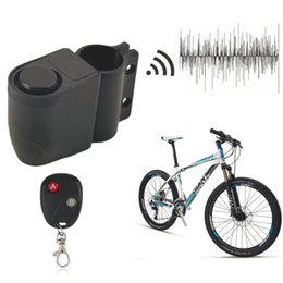 Wholesale Bicycle Security Alarm Lock - Wholesale-Security Bicycle Motorbike Cycling Bike Alarm Anti-theft Lock Loud Sound free shipping
