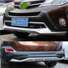 Wholesale Rav4 Rear Bumper Protector - Car-styling plastic+ABS front+ Rear Bumper board guard skid plate bar Protector for Toyota RAV4 2013 2014 2015 (WITH LED LAMP) accessories