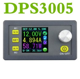 Wholesale voltmeter lcd - DC DPS3005 Constant Voltage current Step-down Programmable control Power Supply module buck Voltage converter color LCD voltmeter Ammeter