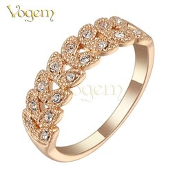 Wholesale Mystic Topaz Stones - Yoursfs Exquisite Mystic Topaz Golden Popular Rings AAA+ Cubic Zirconia Gold 585 Rose Gold Plated Rabbit Ears Bands Wedding Rings for Women