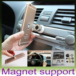 Wholesale Car Kit Accessories - Magnet Car Holder For Iphone Accessories GPS Cradle Kit For Samsung Stand Display Support Magnetic Smart Mobile Phone Car Holder