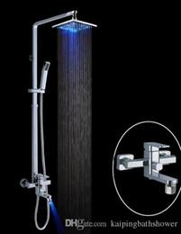 Wholesale Brass Sliding Shower Bar - brass sliding bar temperature control led shower set