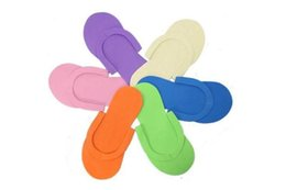 Wholesale Spa Thongs - EVA Foam Salon Spa Slipper Disposable Pedicure thong Slippers Disposable slippers Beauty Slipper Free Shipping