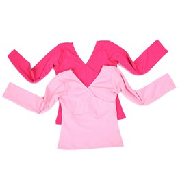 Wholesale Latin Dance Wear Top - Girls Ballet Dance Top Long Sleeve Cotton Fitness Gymnastics Wear Practice Dancewear 2015 New Arrival Free Shipping