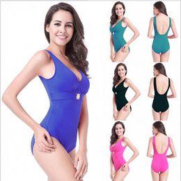 Wholesale Order Bathing Suits - Free shipping One Piece Swimsuit Women Plus Size Swimwear Retro Vintage Bathing Suits Beachwear Print Swim Wear