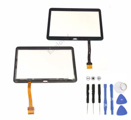 """Wholesale Digitizer Adhesive - Just for Quality Touch Screen Digitizer Glass Panel with Adhesive for Samsung Galaxy Tab 4 10.1"""" SM-T530 T531 T535 1pcs Lot"""