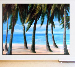 Wholesale Large Nude Canvas Art - Extra Large wall Painting of Blue sea Home Office Decoration paint Canvas Prints No Framed Canvas wall picture Giclee art