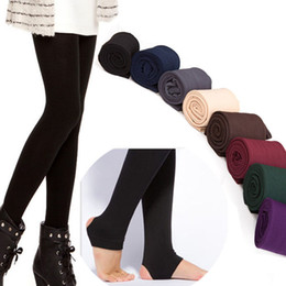 Trampelhose online-Großhandels- Großhandelsqualitätsfrauen-Herbst-Winter DICK warme Legging gebürstete Futter-Stretch-Fleece-Hosen Trample Feet Leggings