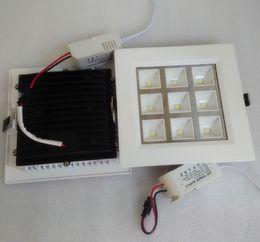 Alta calidad cuadrado regulable 9 * 1W rejilla de aluminio empotrada LED lámpara de la parrilla para baño de la cocina abajo luces AC85-265V desde fabricantes
