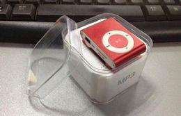 Wholesale Mini Clip Mp3 Music Player - New 7 Color Mini Clip MP3 Player With Micro TF SD Card Slot sports mini MP3 Music Player