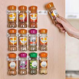 Wholesale Shaker Pepper - Spice Rack Storage Wall Rack 12 Cabinet Door Spice Clips Spice Rack Kitchen 3PCS SET
