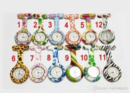 Wholesale Kids Stationary Wholesale - 2017 Silicone Nurse watch Colorful Prints Nurse Pocket Watches Doctor Fob Quartz Watch Kids Gift Watches Fashion Patterns watches Free