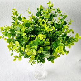grandi decorazioni di vaso di fiori Sconti I soldi lascia la grande decorazione di plastica verde della pianta dei fiori di testa dell'eucalyptus della testa del grande fiore di plastica 7