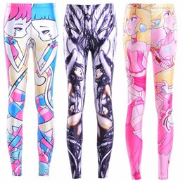 Wholesale Galaxy Girls Pant - Women Fashion Cartoon Girls Galaxy Leggings 3 Color Diving Pants Printed Sky Space Stretchy Breathe Christmas Warm Jeggings Slim Tights