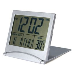 Wholesale Electronic Table Calendar - Wholesale- 2016 New Electronic Desktop Digital LCD Thermometer Calendar Date Weather Station Morning Alarm Clock Home Table Clock
