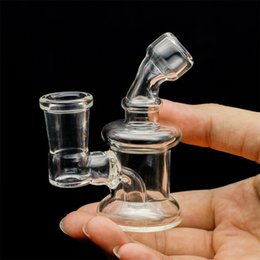 Wholesale Straight Glass Water Pipes - Bong New Design Bongs mini Glass Water Pipes Bongs Pyrex Water Bongs with 14mm Joint Beaker Bong dab rig Water Pipes Oil Rigs