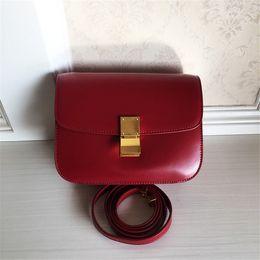 Wholesale Designer Brand Messenger Bags - Fashion Women Messenger Bags Genuine Leather Luxury Brand Handbags Women Bags Designer Crossbody Bag For Ladies Bag
