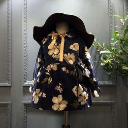 Wholesale Cotton Corduroy Girl Dress - Fashion Autumn Winter Girls Dresses Princess Flower Girl Dress corduroy Toddler Dress Baby Kids Childrens Party Clothes Lovekiss C29473
