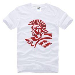 Wholesale Football Tshirt - WISHCART SPARTAK MOSCOW FC Football Printed Mens T Shirt T-shirt 2016 New Short Sleeve O Neck Cotton Casual Tshirt Tee
