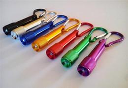 Canada Mini LED lampe de poche en alliage d'aluminium Torche avec mousqueton anneau porte-clés porte-clés Sport Mini led lampes de poche en gros porte-clés porte-clés Y083 Offre