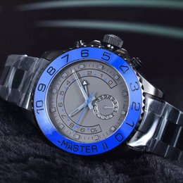 Wholesale Man Sexy Christmas - brand watches men luxury sexy whole black gray dial blue ceramic bezel watch sapphire steel clocks hours orologi uomo