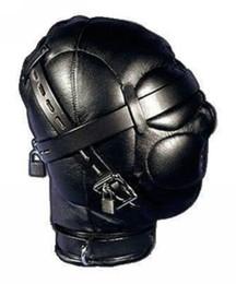 2019 braçadeiras de tornozelo Heavy Duty PU Couro Acolchoado Capa Hood Máscara Halloween 11 H # R501