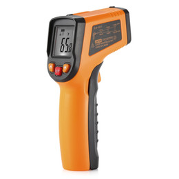 Wholesale Infrared Handheld Thermometer - Infrared Thermomete Non-contact Handheld Infrared Temperature Gun Industrial Measuring Water Oil Food Kitchen Electronic High Thermometer+NB