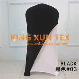 Wholesale Lycra Wholesalers - 50pcs Bulk Salle Price Lycra Chair Cap \ Hood Used For Banquet Wedding Spandex Chair Cover Decoration Free Shipping