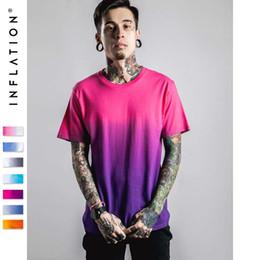 Wholesale Dip Dyed Shorts - Men's high street gradient color Tshirt Men's Funny Hip Hop Dip Dye Cotton O Neck Short Sleeve Tee customizable