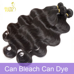Wholesale Unprocessed Grade Virgin Hair - Grade 10A Brazilian Virgin Hair Body Wave Unprocessed Raw Peruvian Indian Malaysian Human Hair Weave 3 4Bundles Lot Natural Color Can Bleach