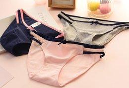 Wholesale Sexy Girls Student Underwear - Female sexy ladies cotton underwear briefs waist girl cute breathable cotton Cotton Lace Waist students