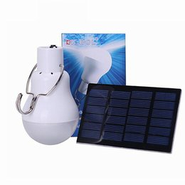 Wholesale Solar House Lamp - Solar Powered Lamp Portable Solar Panel Led Bulb 140LM Energy Saving for Housing Outdoor Activities Emergency