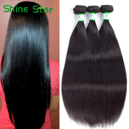 Wholesale Body Wave Brazillian Remy Hair - Grade 8A Virgin soft Unprocessed Brazillian Straight Hair 3 4 Pcs Lot Natural Color Dyeable Remy Hair Weave Peruvian Brazilian Virgin Hair