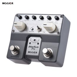 Wholesale Mooer Guitar - Wholesale- MOOER ShimVerb Pro Digital Reverb Guitar Effect Pedal with Shimmer Effect 5 Reverberation Modes Twin Footswitch