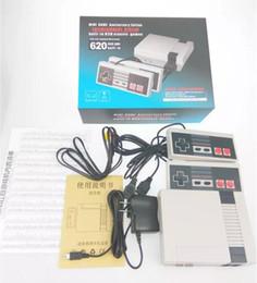 Wholesale Video Pads - New Retro Mini TV Handheld Game Console Video Game Console For Nes Games Built-in 620 Different Games PAL&NTSC dual gamepad pad free fedex