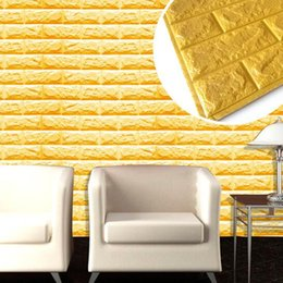 Wholesale Green Wall Board - 2017 Waterprrof boards interior home decoration wall panel 3D XPE lightweigt faux brick wall panel