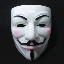 Wholesale Cheap Men Masquerades - Cheap Masquerade Masks V Mask Vendetta Halloween Mask Party Face Halloween Party Mask Super Scary Cosplay Fancy 10pcs lot Fast Shipping